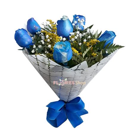 1974 Buquê Rosas Azuis