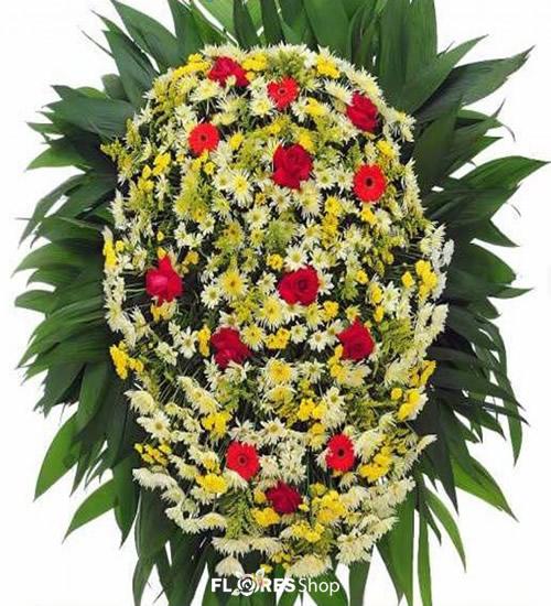 2106 Coroa de Flor Adeus