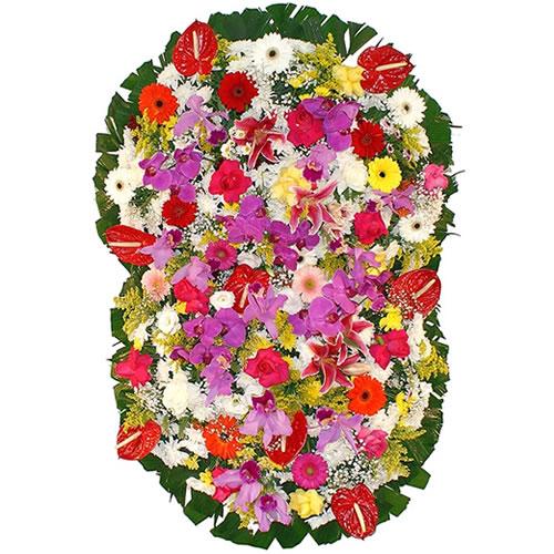 2108 Magnifica Coroa de flores e Orquideas