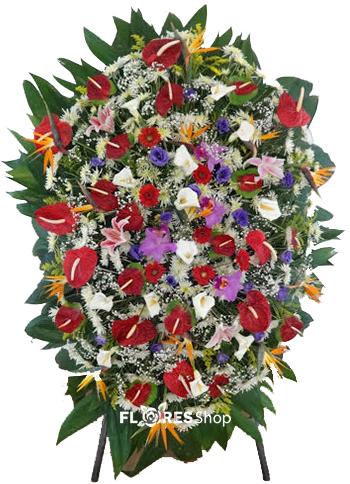 2142 Coroa Mix de Flores Nobres
