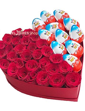 2244 Coração de Rosas e Kinder ovo