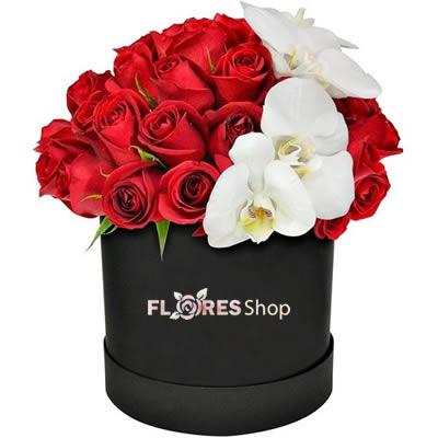 2372 Rosas e Orquídeas - Flowers Box Premium