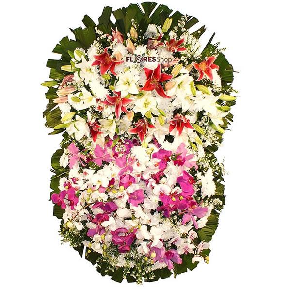 2551 Coroa de Orquídeas e Lírios