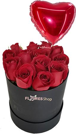 2599 Rose Box Com Coração