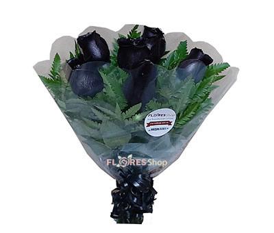 2766 6 Rosas Pretas (Negras)