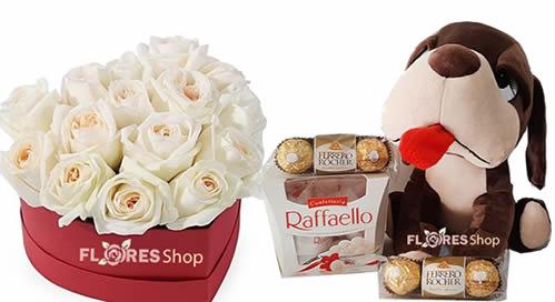 3300 Coração de Rosas in Box e Chocolates