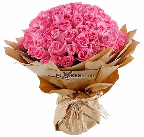 3324 Mega rosas cor de rosa