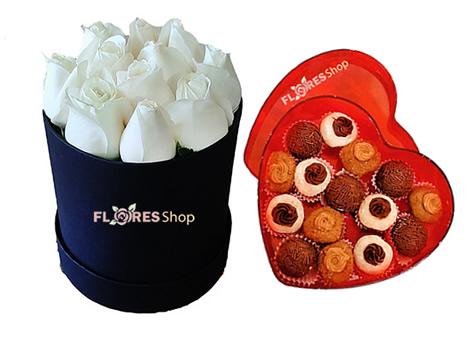 3343 Flower box white e docinhos