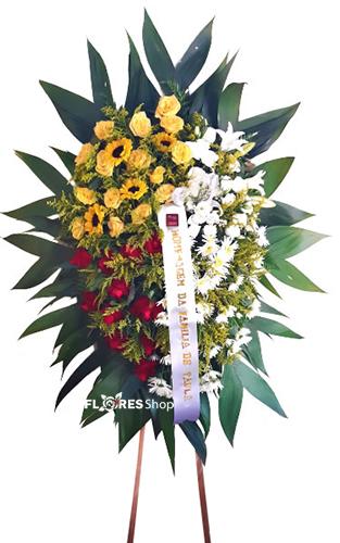 4659 Coroa de Flores Mix de Cores