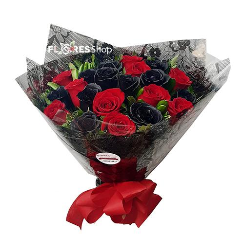 4839 Rosas Vermelhas e Pretas