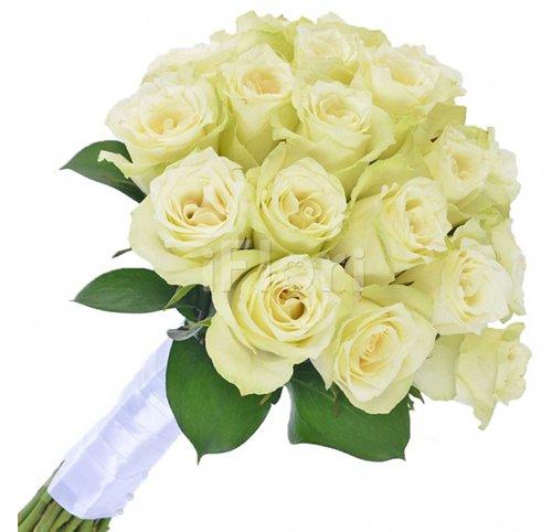 624 Buquê de Noiva Rosas Brancas